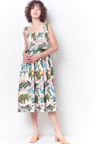 ZOLA Cockatoo Printed Halter Dress