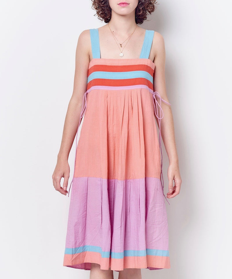JOSIE Color Blocked Bib Dress
