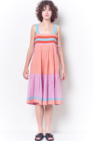 MIRANDA Color Blocked Babushka Dress