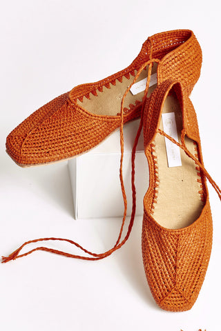 f4779fe097f PEGGY Hand Made Raffia Wedge Wrap Shoe