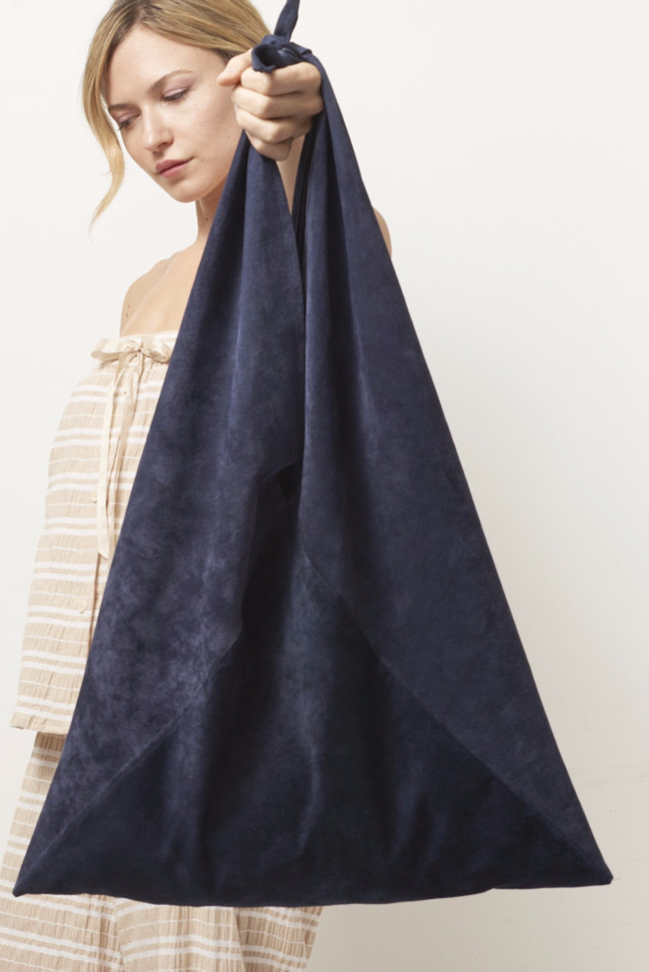 TRIANGLE Suede Tote