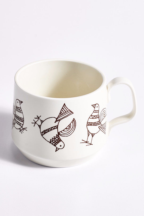 Sabato Porcelain Bird 10oz Mugs