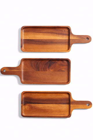 Wooden Platter with Handle