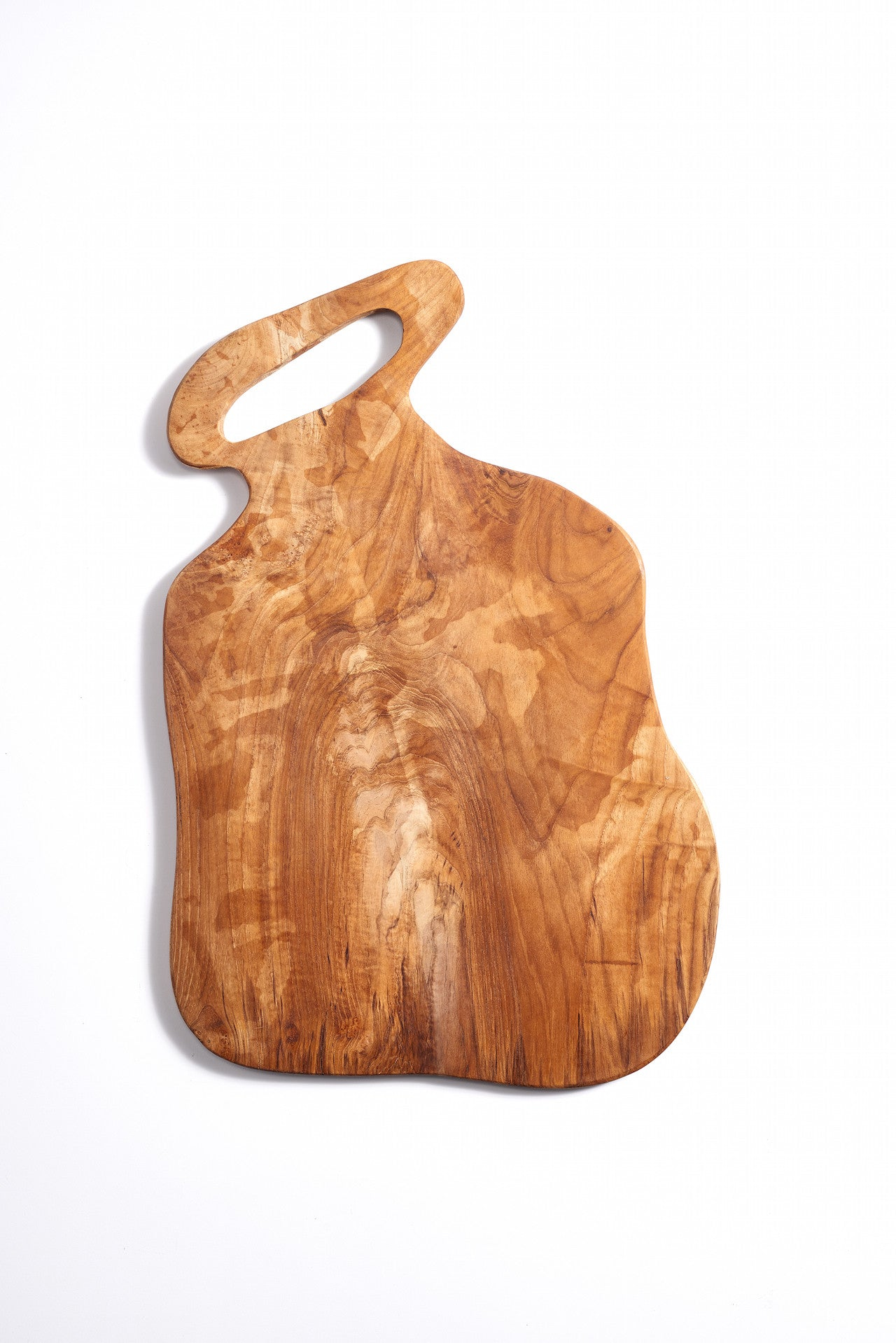 Organic Shaped Wooden Platter with Handle