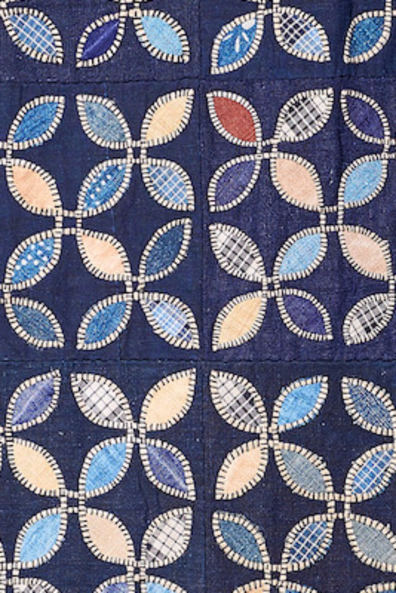 Authentic Hand Applique and Embroidered Indigo