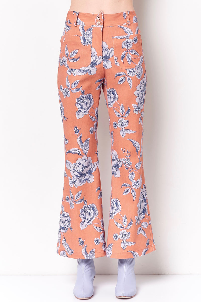 MOLLY High Waisted Flare Pant - Toile