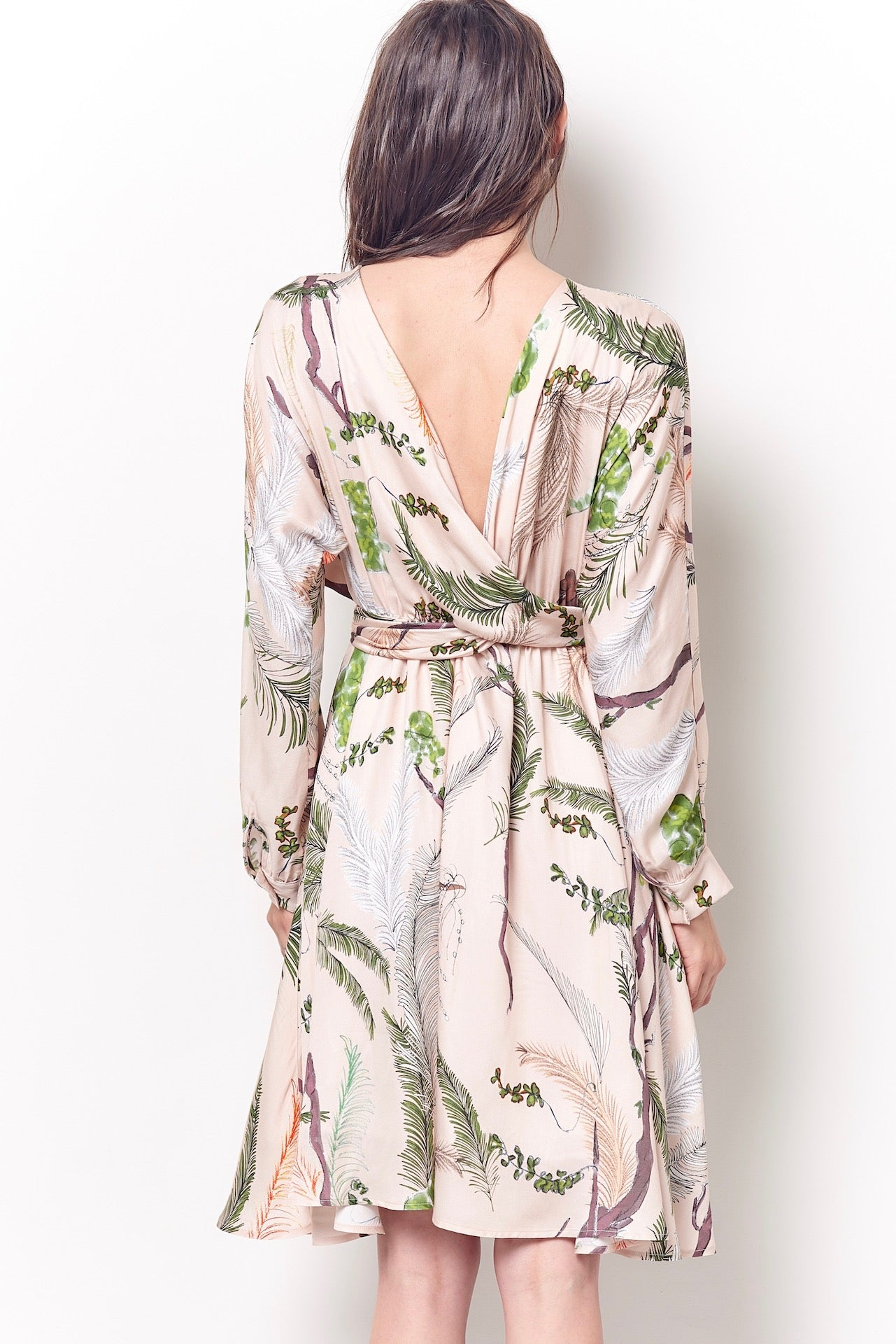 TALEEN Wrap Reversible Dress - Forest