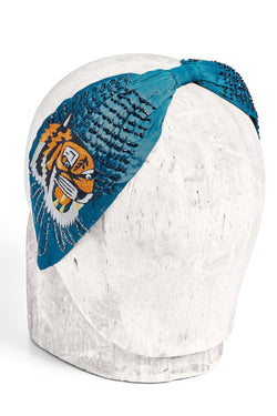 TIGER Embroidered Knotted Headband