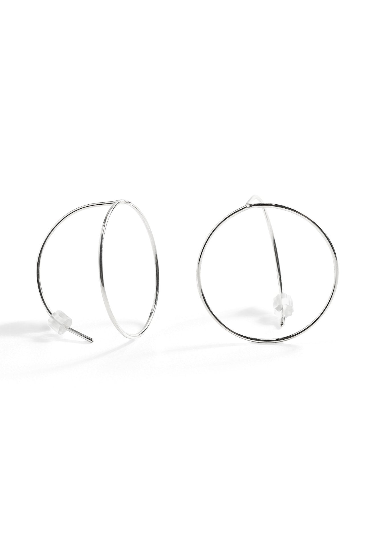 Lineage Round Earring- Silver