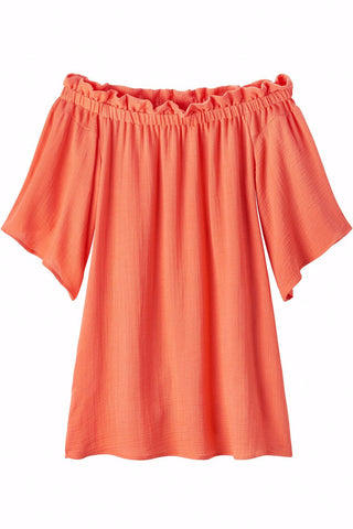 MARY Off the Shoulder Ruffle top Dress