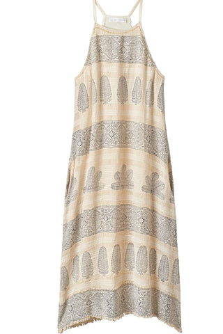 ZOLA Block Printed Halter Dress