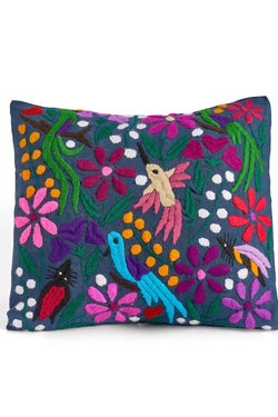 Mexican Embroidered Square Pillow