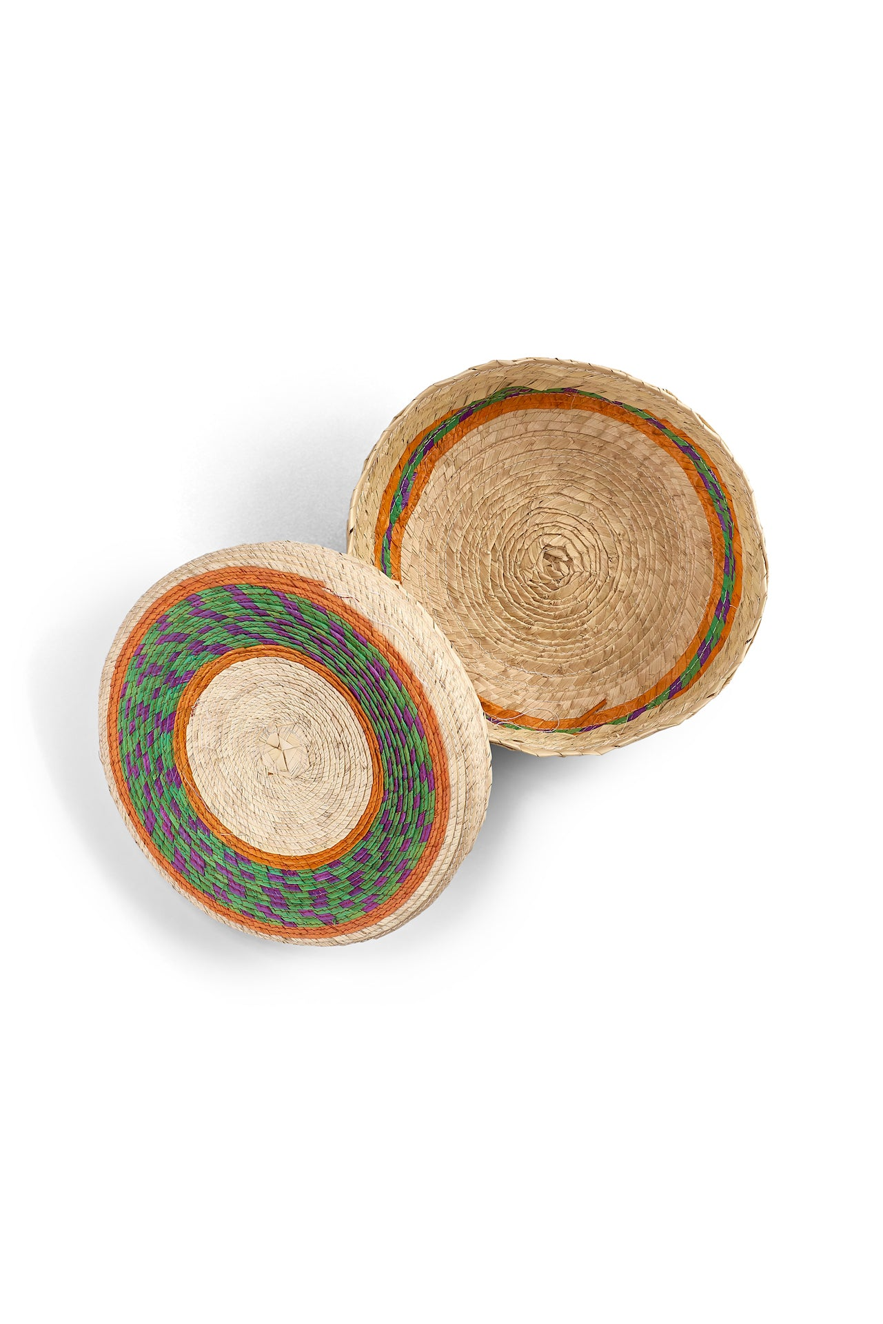 Handmade Lidded Mexican Baskets