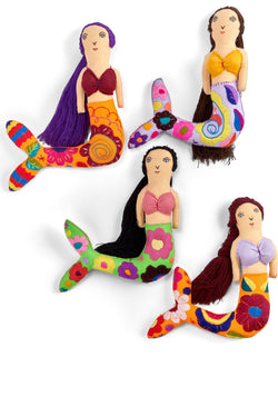 Mexican Embroidered Mermaid Doll