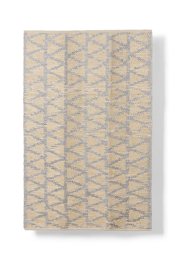 Flat Weave Rug - Natural and Silver