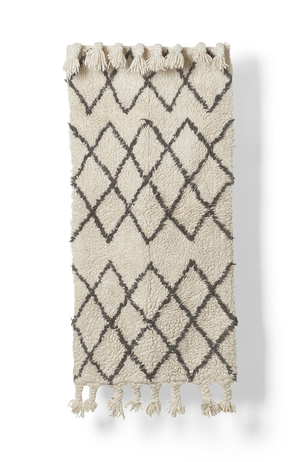 Diamond Wool Rug - Natural