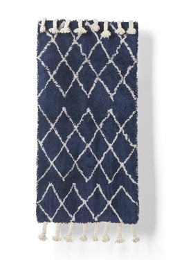 Diamond Wool Rug - Navy