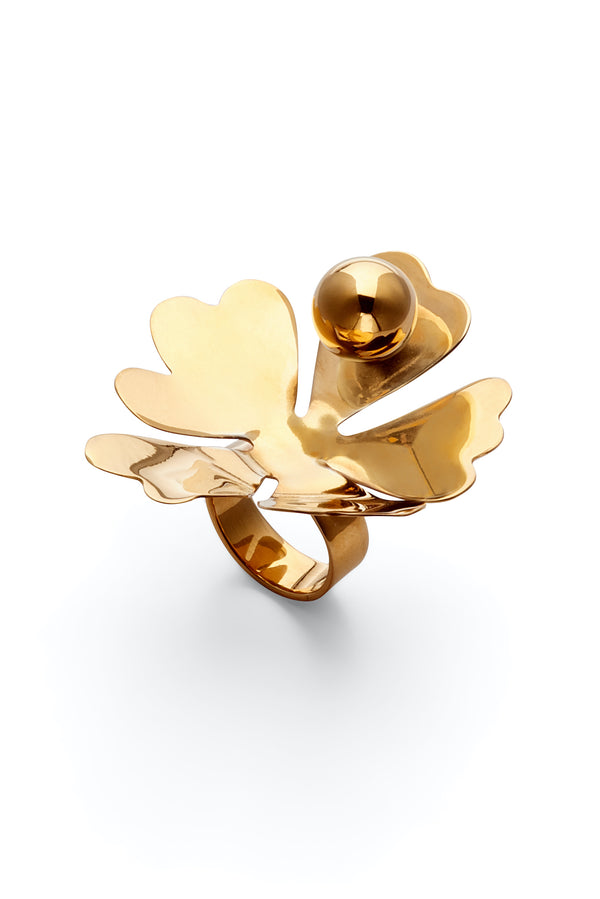 Cut Flower Statement Ring