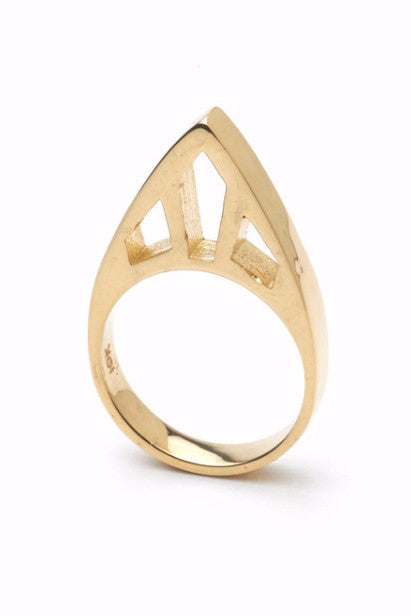 The CLC STEEPLE Ring in 10ct Yellow Gold