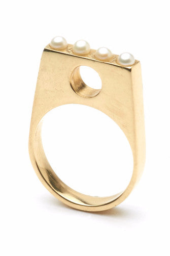 The CLC HARMONY Ring in 10ct Gold with 3mm Pearls