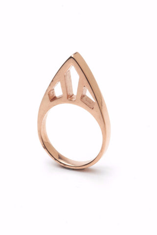 The CLC STEEPLE Ring in 14ct Rose Gold