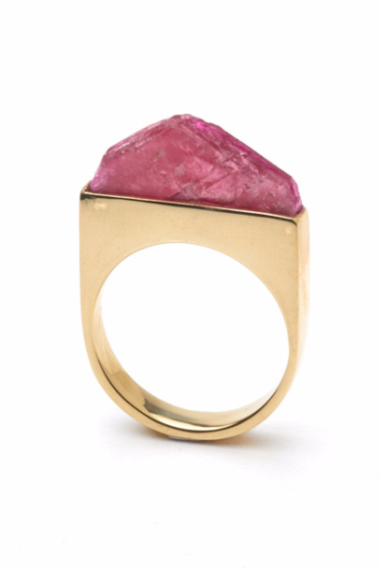 THE SUMMIT Ring in Gold with Rhodinite