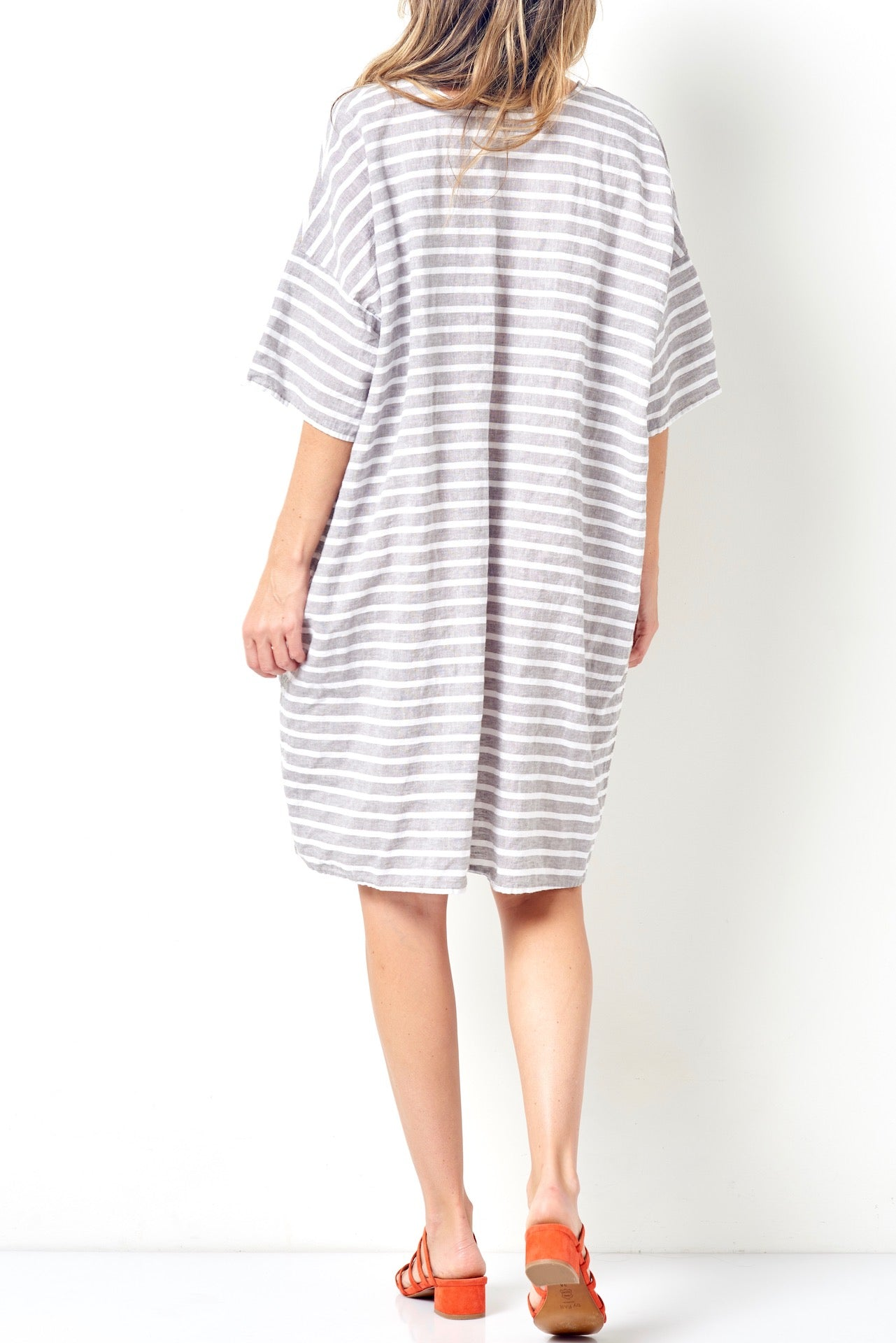 522310a059 SELENA Relaxed Tee Style Dress-Stripe – CLC by Corey Lynn Calter