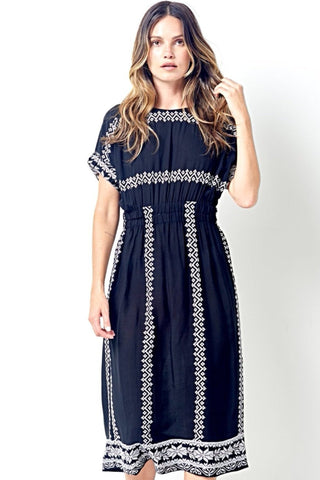 JOLENE Embroidered Dress- 2 colors