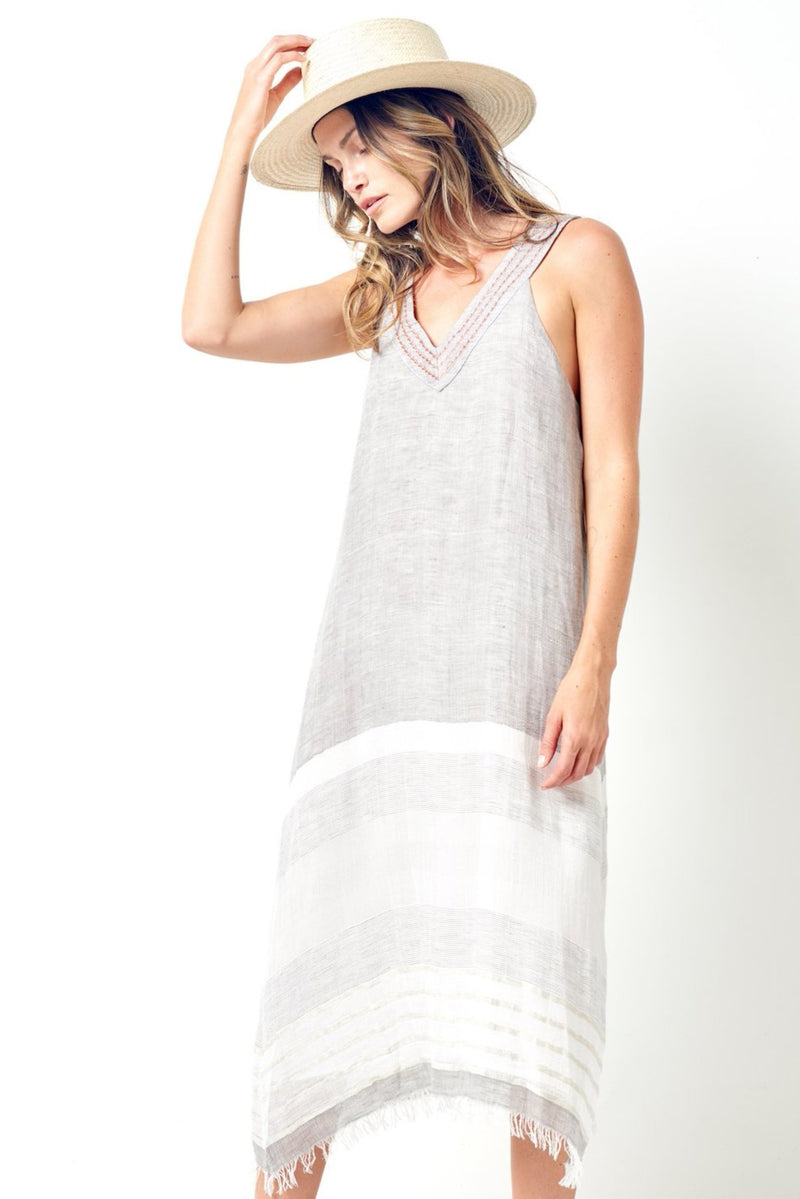 IVY Scarf V-neck Sun Dress
