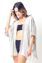 MARLENA Hand Woven Coverup- Scarf