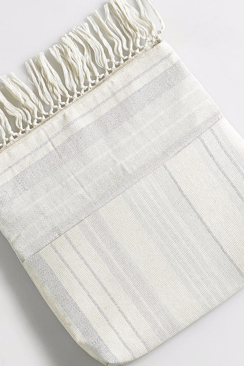 Margarita Stripe Clutch With Fringe