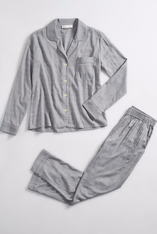 SIENNA cocktail pajama set in heather metallic