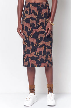 ZOLA Leopard Pencil Skirt