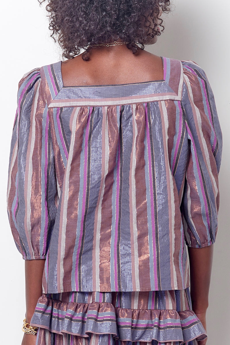 ADDY Square Neck Top - Stripe