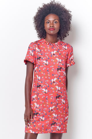 BECKY Shirt Dress w/Handkerchief Hem
