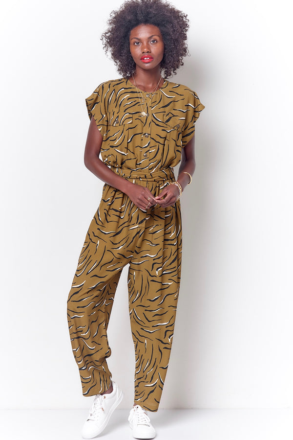 CODY Pocket Jumpsuit - Tiger
