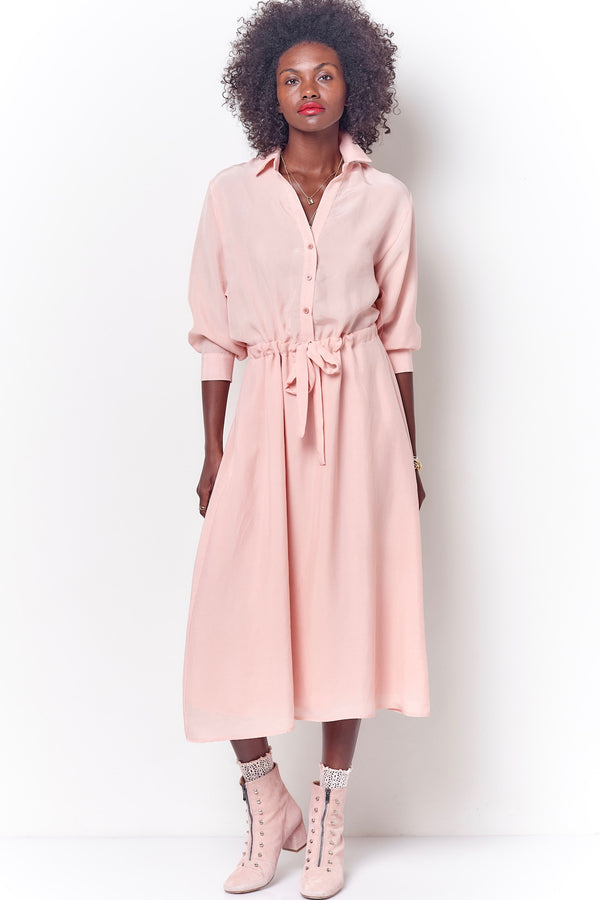 KARRI V-Neck Shirt Dress