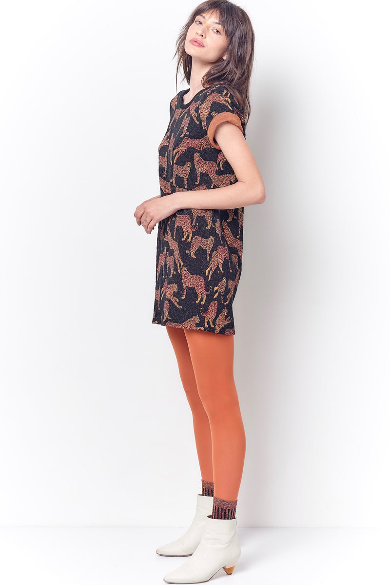 NIKI Tee Mini Dress - Leopard