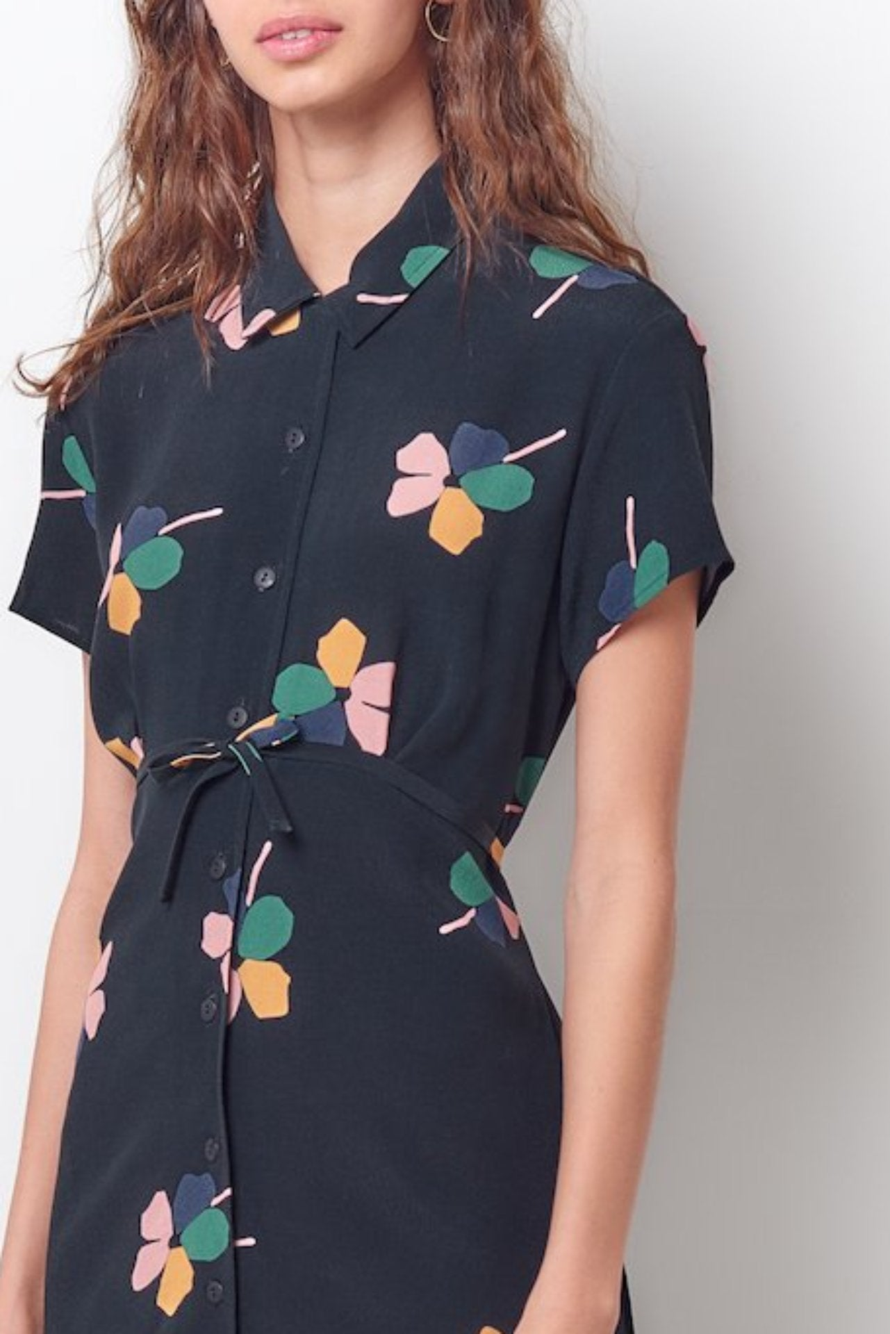 KAREN Shirt Dress- Floral