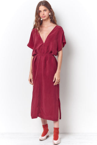 TALEEN Tie Neck Halter Dress -Dyed