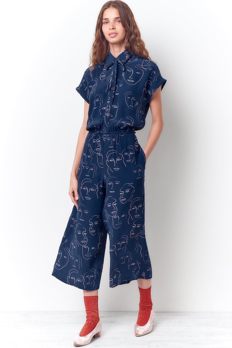 Blue women's jumpsuit