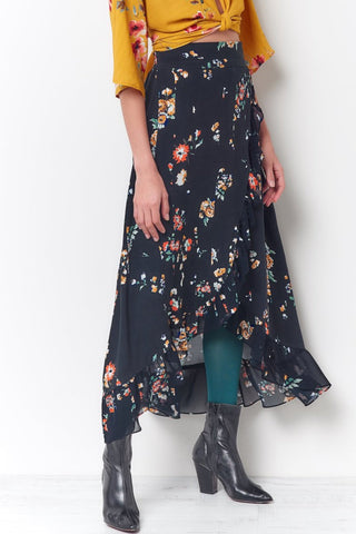 JENNA Gored Skirt - Floral
