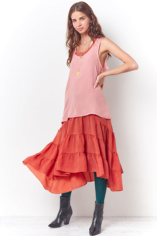 SELENA Relaxed Tee Style Dress-Faces