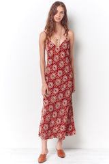 Long Paisley Velvet Dress
