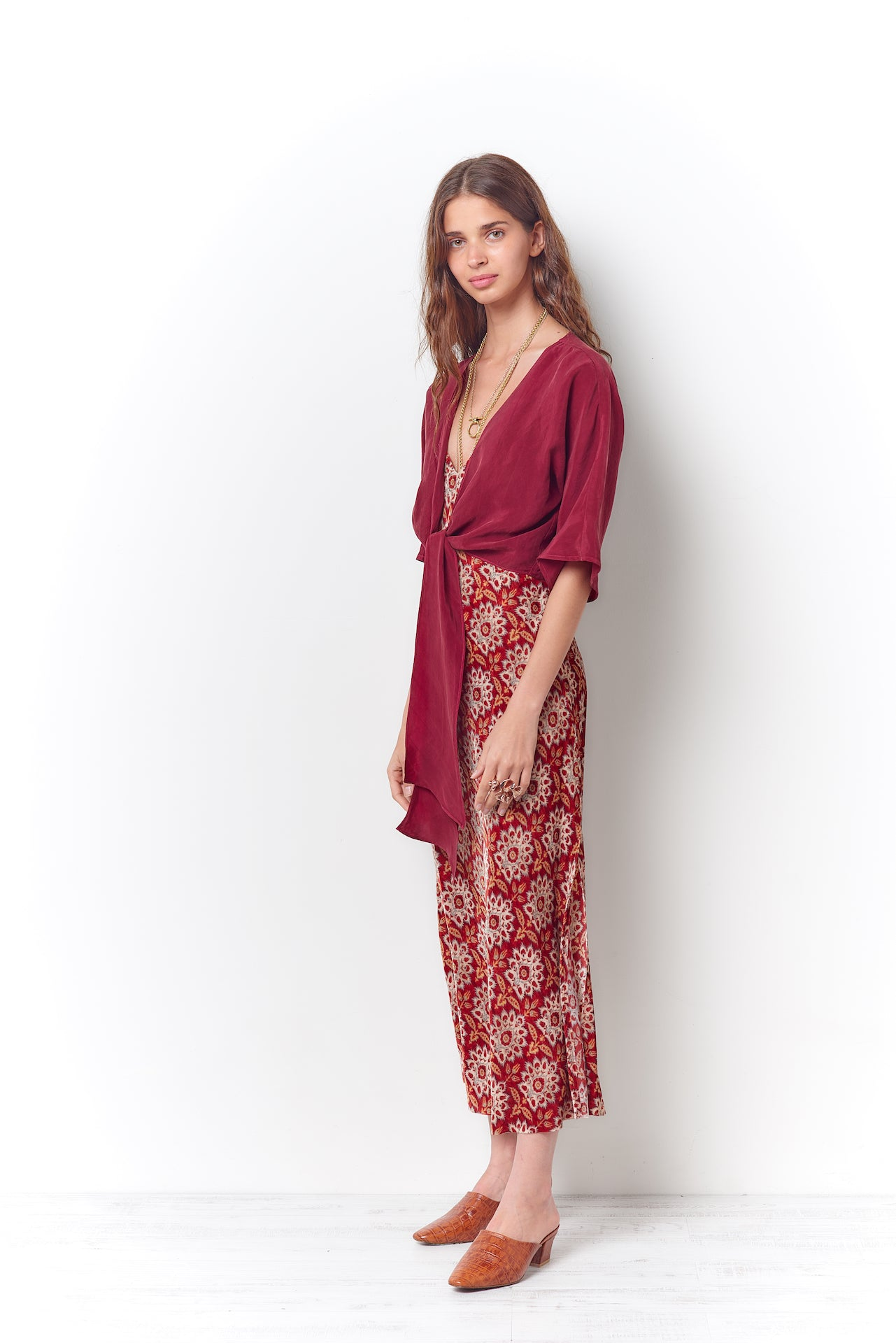 Paisley Velvet Slip Dress
