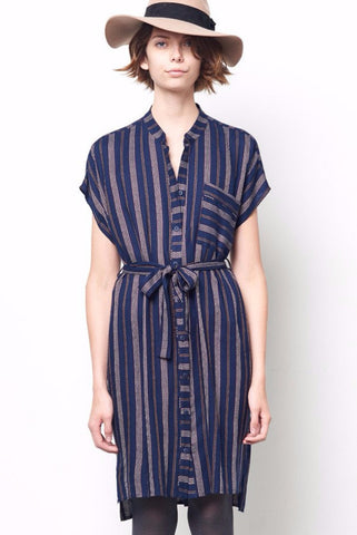 a9c4a80f3a MORGAN Stripe Shirt Dress