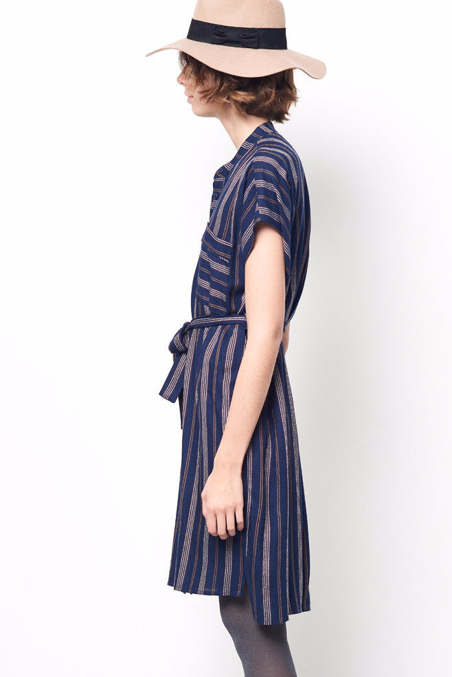 MORGAN Stripe Shirt Dress