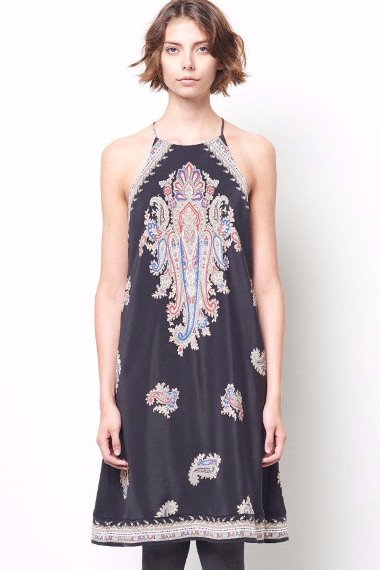 ZOLA Paisley Racer Back Slip Dress