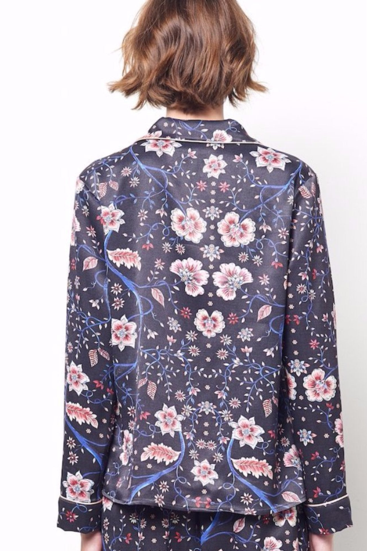 SIENNA Cocktail Top in Vine Floral Print
