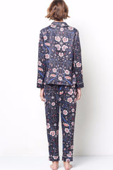 SIENNA Cocktail Pajama Set in Vine Floral Print